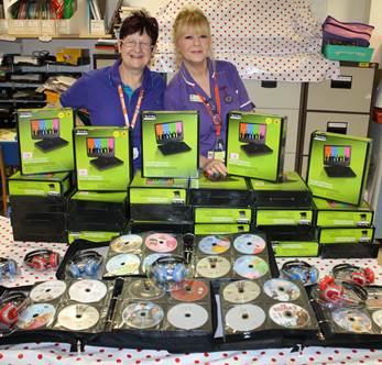 Local pub donate more than 500 DVDs to QA's Paediatrics Ward