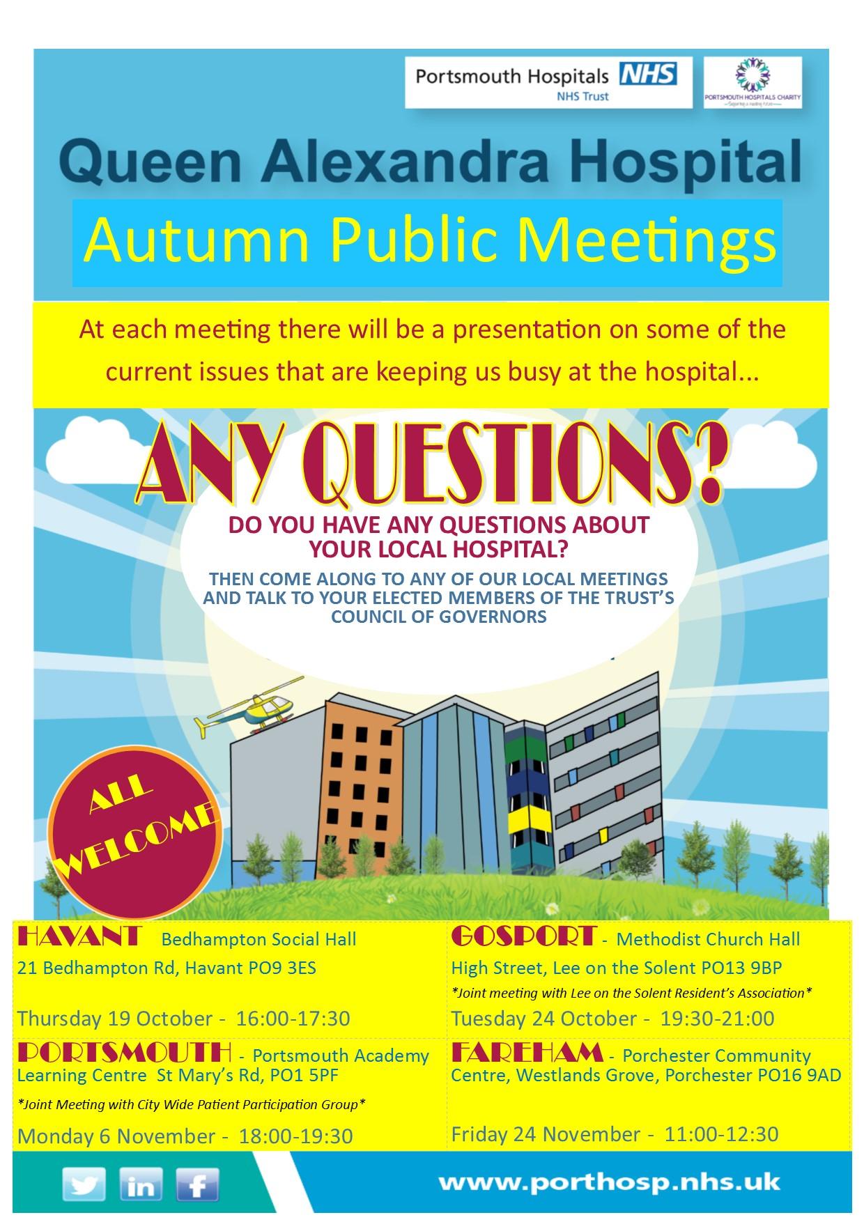 Autumn Public Meetings