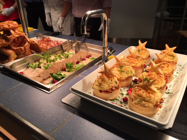 QA staff tuck into delicious Christmas lunches