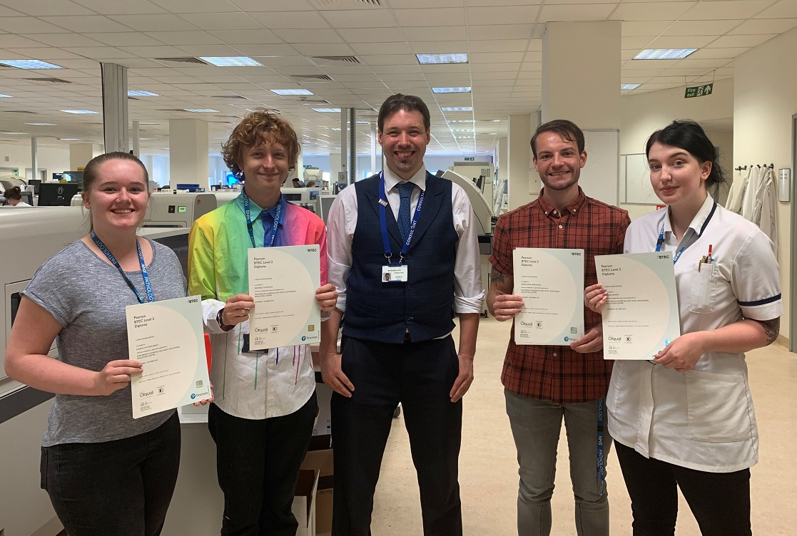 Pathology apprentices first few in the country to pass apprenticeship course